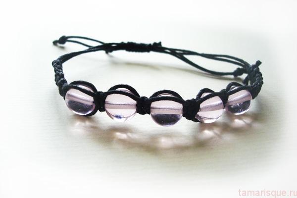 Плетеный браслет Шамбала