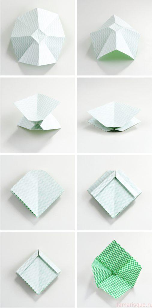 Как сделать бантик оригами