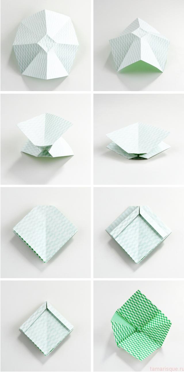Как сделать бантик из оригами своими руками 42