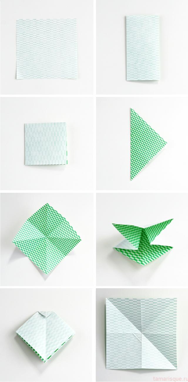 Как сделать бантик из оригами своими руками 25