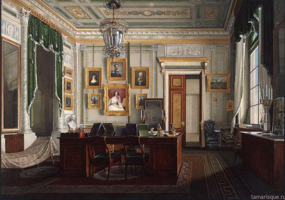 Интерьеры Зимнего дворца. Кабинет императора Александра II.