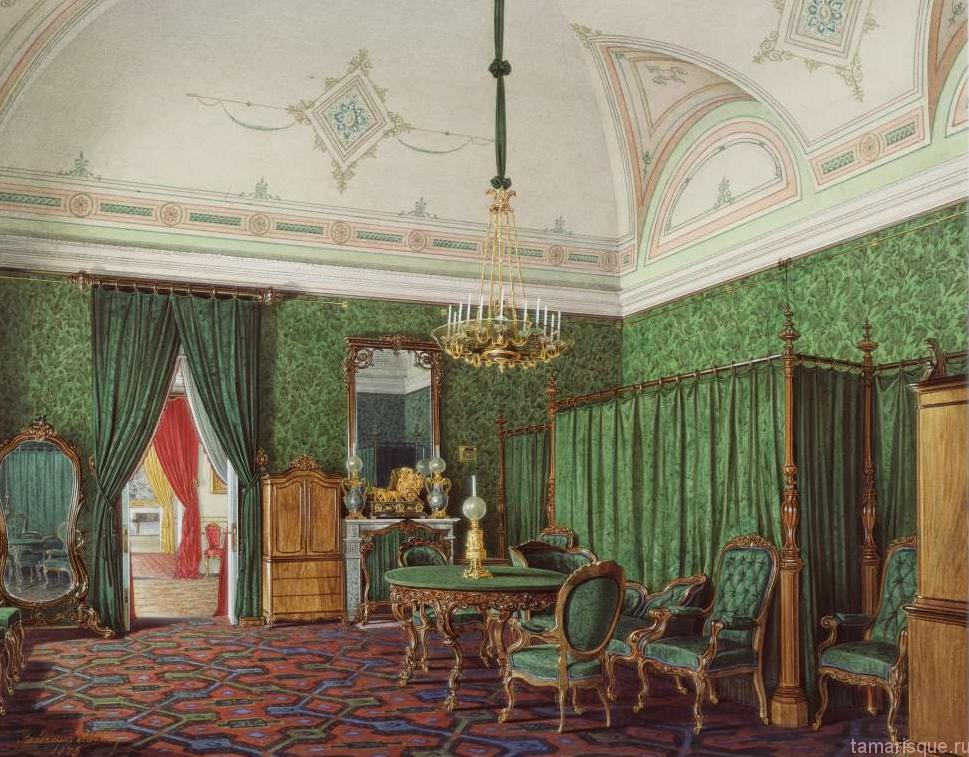 Интерьеры Зимнего дворца. Спальня.