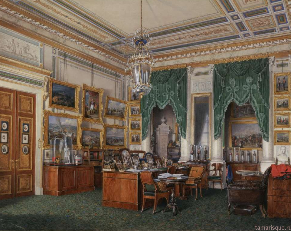 Интерьеры зимнего дворца. Кабинет императора Александра II