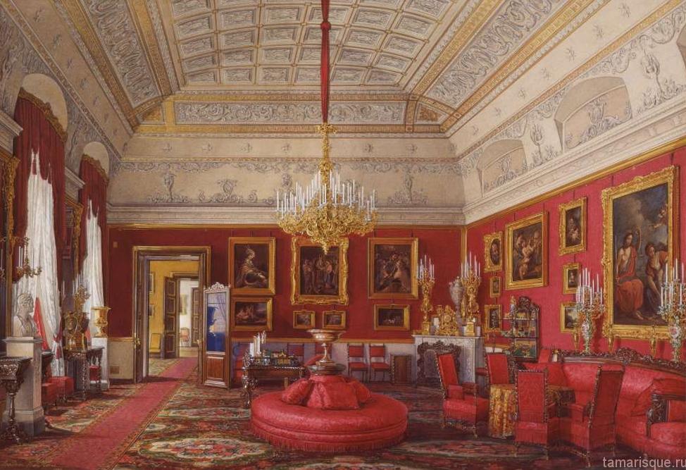 Интерьер Зимнего дворца. Большой кабинет Великой Княжны Марии Николаевны