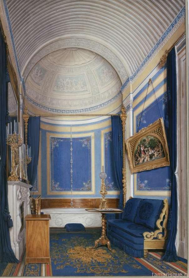 Интерьер Зимнего дворца. Ванная комната Великой Княжны Марии Александровны