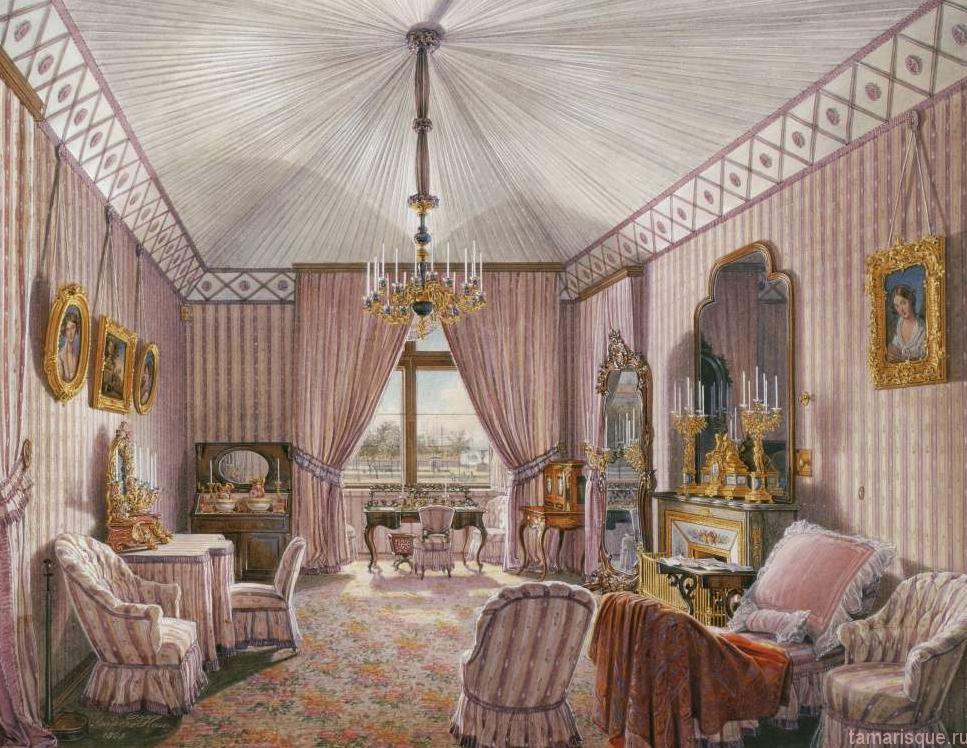 Интерьер Зимнего дворца. Гардеробная комната.