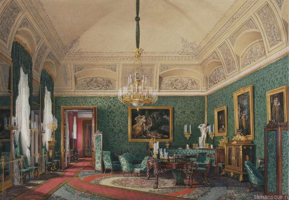 Интерьер Зимнего дворца. Малый кабинет Великой Княжны Марии Николаевны