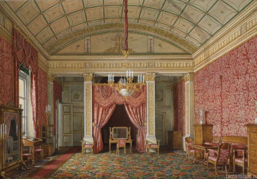 Интерьер Зимнего дворца. Спальня Великой Княжны Марии Николаевны