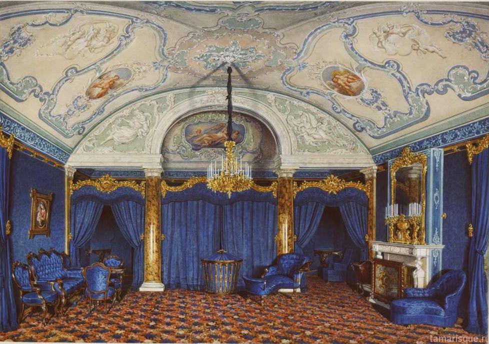 Интерьер Зимнего дворца. Спальня.