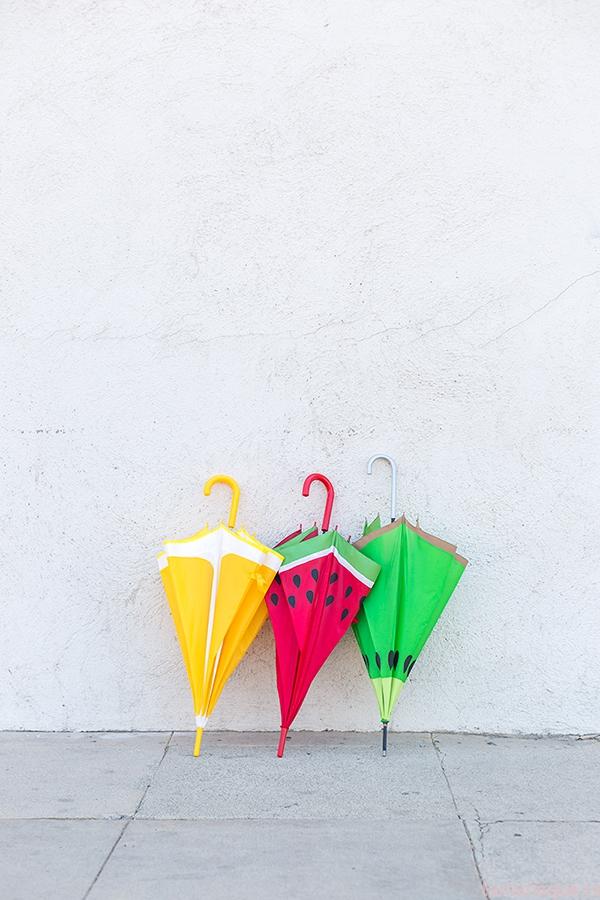 Делаем зонтик-фрукт