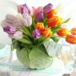 Тюльпаны и капуста — составляем цветочную композицию