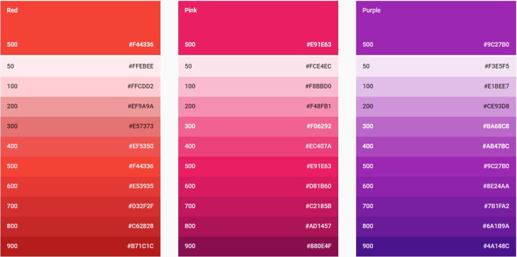 Что такое цветовые палитры