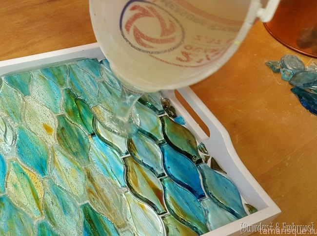 Делаем мозаичный поднос