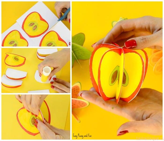 Делаем объемные фрукты для занятий с детьми